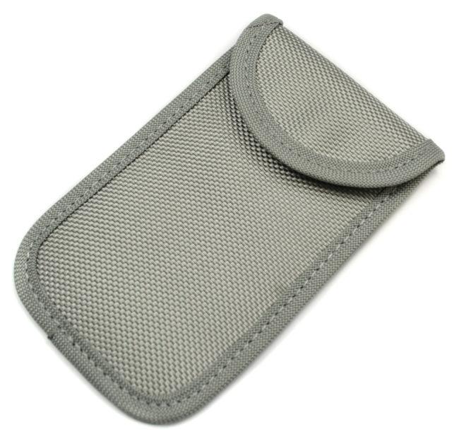 Fabric RFID Signal Blocking Wallet for Proximity Keys (Grey)