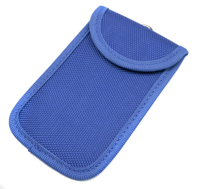 Fabric RFID Signal Blocking Wallet for Proximity Keys (Blue)